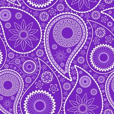 Purple Paisley Pattern Digital Paper Freebie! JDesignsHandmade