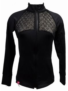 Schriffen Bow Show Jacket with Lace in Black | Now GOLF IS SEXY! Stylish golf clothing for women