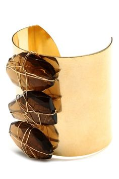 Smoky 3 Nugget Wrap Cuff