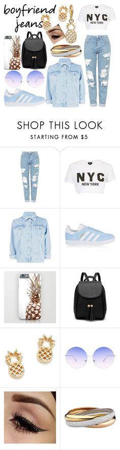 """Boyfriend Jeans"" by dreamfashionstylist on Polyvore featuring Topshop, Boohoo, adidas Originals, Bing Bang, Skinnydip and Thomas Sabo"