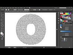 How to Fill a Character with Text in Adobe Illustrator - part 2 Creative Suite, Adobe Illustrator Tutorials, 3d Typography, Blender 3d, No Photoshop, Graphic Design Tutorials, 3 D, Fill, Illustration