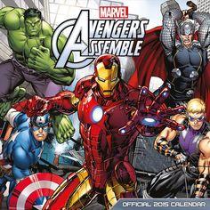 Calendario Los Vengadores, 2015 Calendario 2015 con imágenes de los superheroes de Los Vengadores.