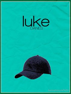 Gilmore Girls minimalist poster, Luke Danes by hannahnicole420
