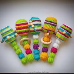 Baby Knitting Patterns Antris' Crochet rattle