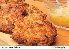 Zelné placky se škvarky recept - TopRecepty.cz Banana Bread, Cauliflower, French Toast, Cabbage, Food And Drink, Chicken, Meat, Vegetables, Breakfast