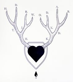 antler tattoo family tree / the made shop