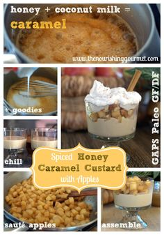 Spiced Honey Caramel Custard with Apples and Whipped Cream (Paleo and GAPS-friendly, Dairy and gluten-free)