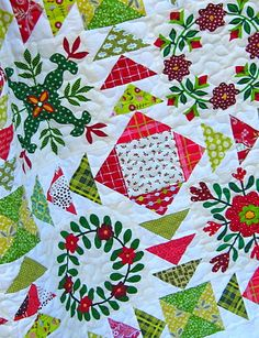 """""""Coming Together"""" quilt kit by Alewives Fabrics, from the book Simply Modern Christmas by Cindy Hammon, seen at SouleMama"""