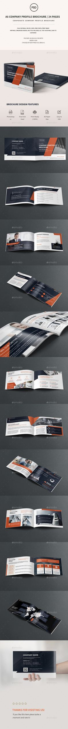 A5 Corporate Company Brochure Template PSD. Download here: https://graphicriver.net/item/a5-corporate-company-brochure-/17261192?ref=ksioks