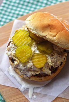 Alabama Chicken Sandwich with BBQ White Sauce recipe