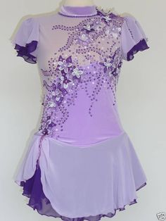 1 of 2: CUSTOM MADE TO FIT FIGURE SKATING/ DANCING/ BATON/ TWIRLING COSTUME