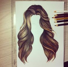 Trendy Fashion Sketches How To Draw Hair Pencil Art Drawings, Art Drawings Sketches, Cute Drawings, Hair Illustration, Hair Sketch, Color Pencil Art, How To Draw Hair, Beautiful Drawings, Character Drawing