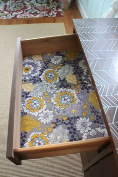 Fabric Drawer Liners Soak In Stiffener Dry On Flat Surface Cut