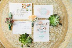 garden wedding invitations - photo by Onelove Photography http://ruffledblog.com/romantic-wedding-handcrafted-by-the-groom #weddinginvitations #stationery