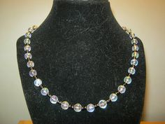 Pearlstyle necklace with black beads 18 inches by carebear1984, $10.00