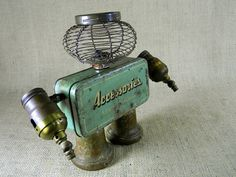 Robot Sculpture - THE SENTINEL - found object - Reclaim2Fame