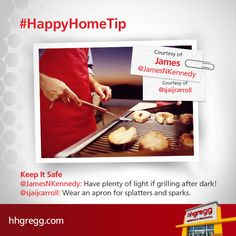 We want everyone to be safe while creating culinary masterpieces. Check out these two helpful #HappyHomeTip reminders from our followers