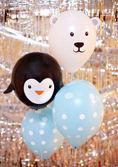 #DIY Polar Bear and Penguin Balloons