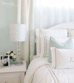 Creating a serene, elegant bedroom.