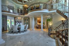 A Magnificent Mediterranean Villa with a porte-cochere, venetian plastered walls, and a main level master suite. TAKE A TOUR HERE: http://www.theopulentlifestyle.info/2014/12/a-magnificent-mediterranean-villa-with.html