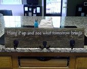 Grateful Dead Truckin Lyrics on an Upcycled Wood Coat Rack with Oil Rubbed Bronze Hooks