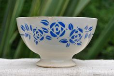 antique French Cafe au Lait bowl hand by ForTheLoveOfFrance
