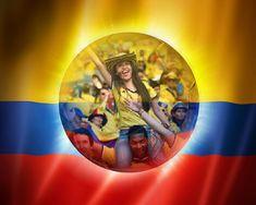 Fotomontajes en la bandera de la selección Colombia