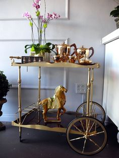 Cheers to My New Vintage Bar Carts! @ A Well Dressed Home // Must find for Jess