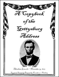 Free Copywork of the Gettysburg Address