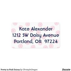 Pretty in Pink Daisey Label