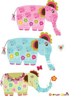 Elephants. Carolyn Gavin