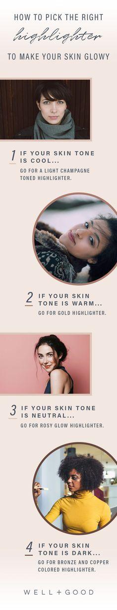 Plus: Kristen Arnett, international eco makeup artist and founder of Green Beauty Team, shares the secret to getting your shimmer level *just* right. Best Face Highlighter, Highlighter Makeup, Contour Makeup, Highlighters, Glowy Makeup, Sexy Makeup, Glowy Skin, Makeup Light, Prom Makeup Looks