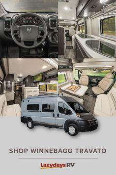 The New Winnebago Travato Experience the smartest Class B motorhome on the marke. Best Campervan, Campervan Hire, Campervan Interior, Class B Motorhomes, Motorhomes For Sale, Smart Class, Class B Rv, Van Life Blog, Rv Life