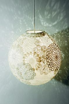 Lampa av loppisdukar – Hus & Hem