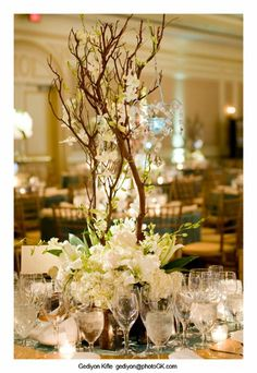 Winter Centerpiece Centerpieces Wedding Flowers Photos & Pictures - WeddingWire.com