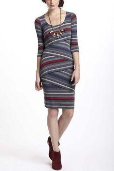 Striational Column Dress