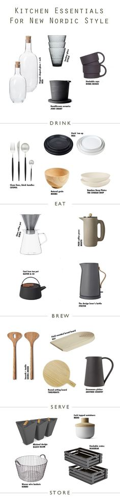 Essentials For New Nordic Kitchen Style, Home Accessories, How to style your kitchen with this essential kitchen accessories shopping page for Scandinavian New Nordic Styling. Nordic Kitchen, Scandinavian Kitchen, Scandinavian Style, Nordic Style, Minimal Kitchen, New Nordic, Nordic Home, Scandinavian Interior, Nordic Art