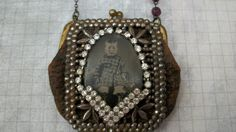 Altered Coin Purse Tintype Necklace by AnnieLorraine on Etsy