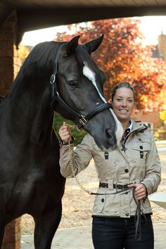 Lovely pic of Charlotte and Valegro!
