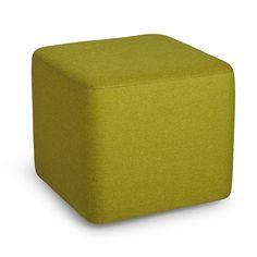 Green Block Party Ottoman,Green