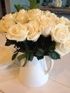 Simple but beautiful white roses