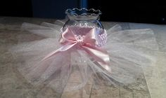 Aww! Tutu centerpiece for ballerina or baby shower, cute.