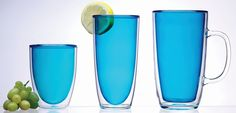 Keep-Kool double wall acrylic beverageware from Prodyne keeps drinks chilled longer and prevents sweating