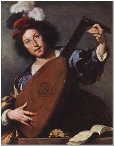 "Bernardo Strozzi (1581-1644) Lute Player Oil on canvas 1630-1635 92 x 76 cm (36.22"" x 29.92"")"