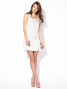 cute white dress for those outdoor day drinking parties