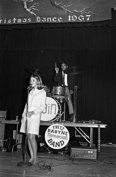 Stevie Nicks with her first band, Fritz