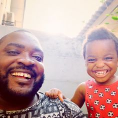 Meet Imoh Umoren and Imoh Umoren II, a father and 2-year-old son in Lagos, Nigeria. | This 2-Year-Old Lost A Race Because He Just Wanted To Go Hug His Dad - BuzzFeed News