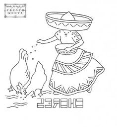 mexican embroidery Mexican DOW embroidery transfer patterns