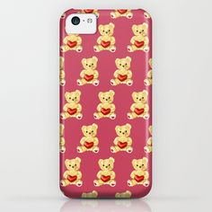 Cute Teddy Bears Pink Pattern iPhone & iPod Case - $35.00 #iphone #iphone5c #iphonecase