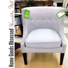 Pretty Little Cynthia Rowley Dove Grey Upholstered Chair. I Like The  Simplicity Of The Row